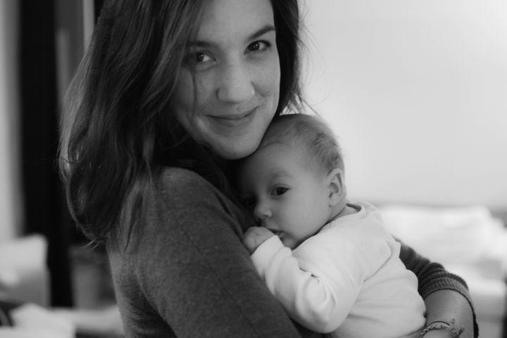 Clara Leurent et son fils