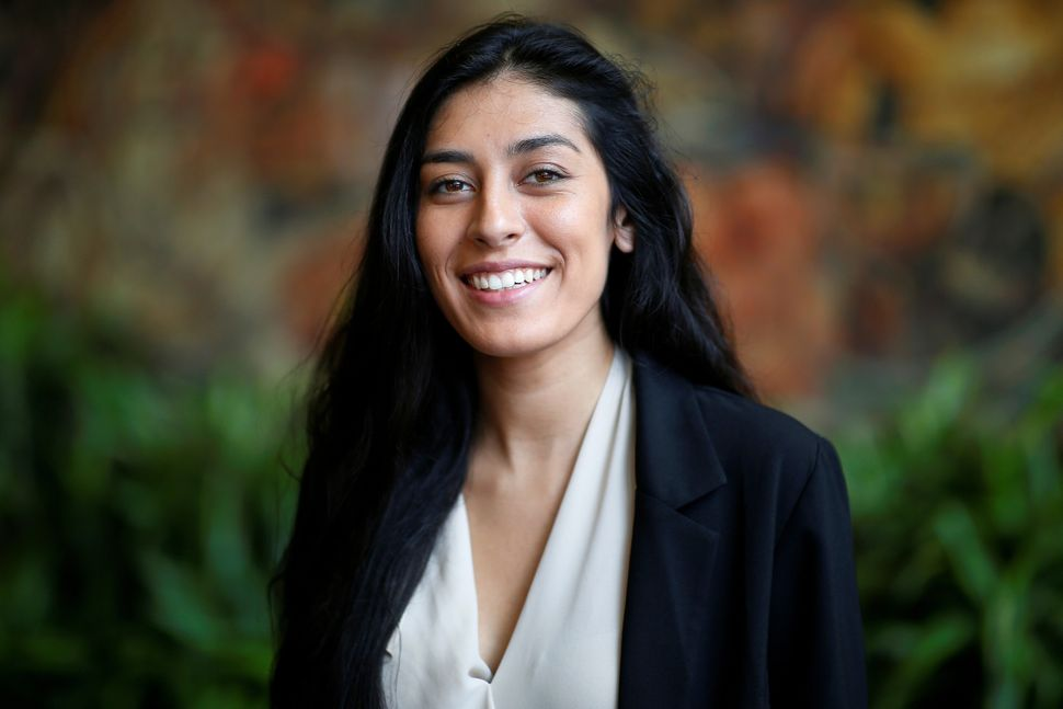 Alexandra Rojas, head of Justice Democrats, got involved in politics as a volunteer for Bernie Sanders' 2016 campaign. Her de