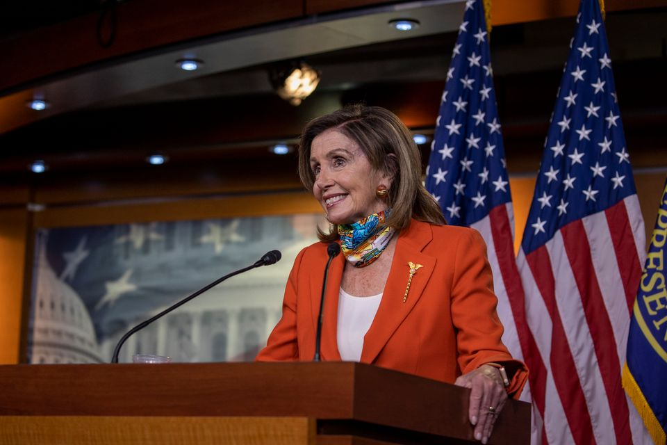 House Speaker Nancy Pelosi (D-Calif.) addresses reporters on Friday. House Democrats' campaign arm has...