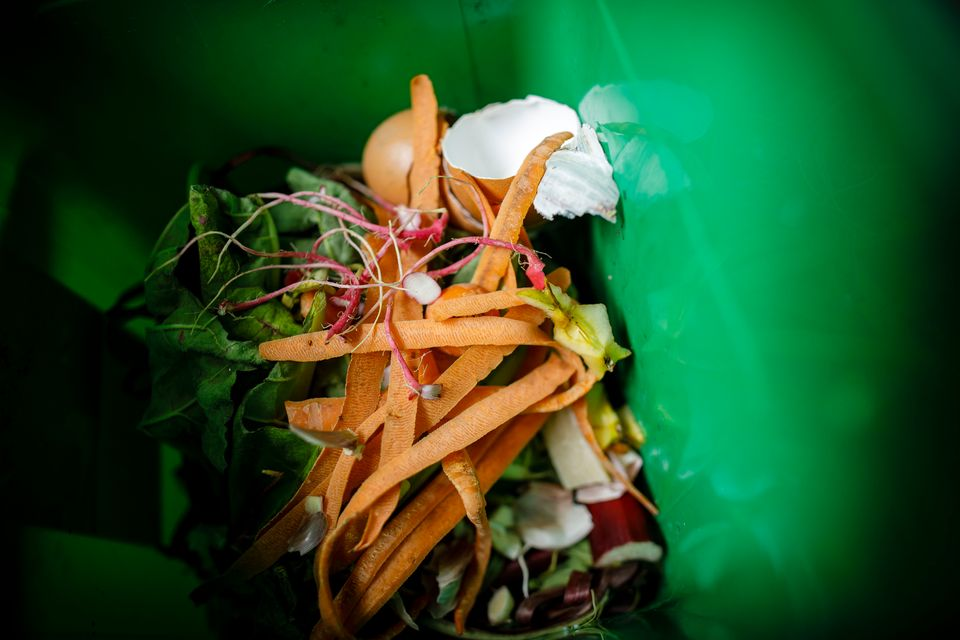Composting can help cut down on food
