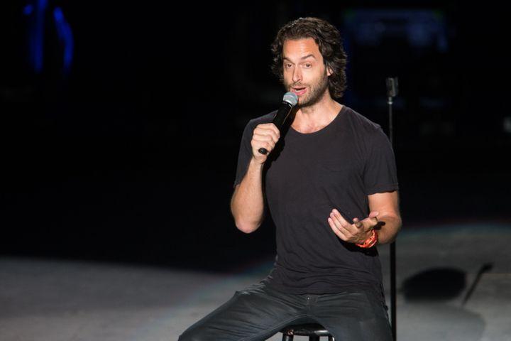 Comedian Chris D'Elia performs on stage during the Oddball Comedy and Curiosity Festival on Sept. 15, 2013 in Irvine, Calif.