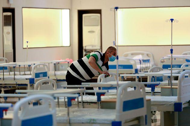 6월 20일 이라크 바그다드 한 병원의 코로나19