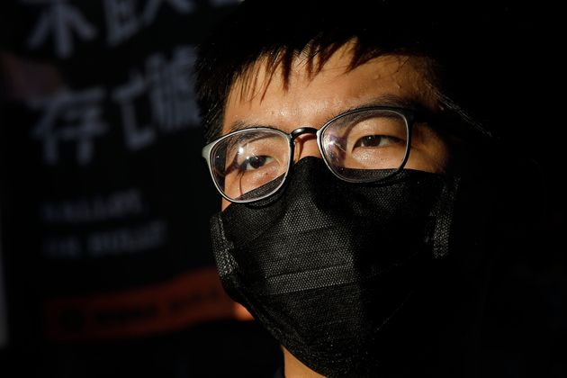 Hong Kong activist Joshua Wong announces his plan to run for the upcoming Legislative Council elections,...