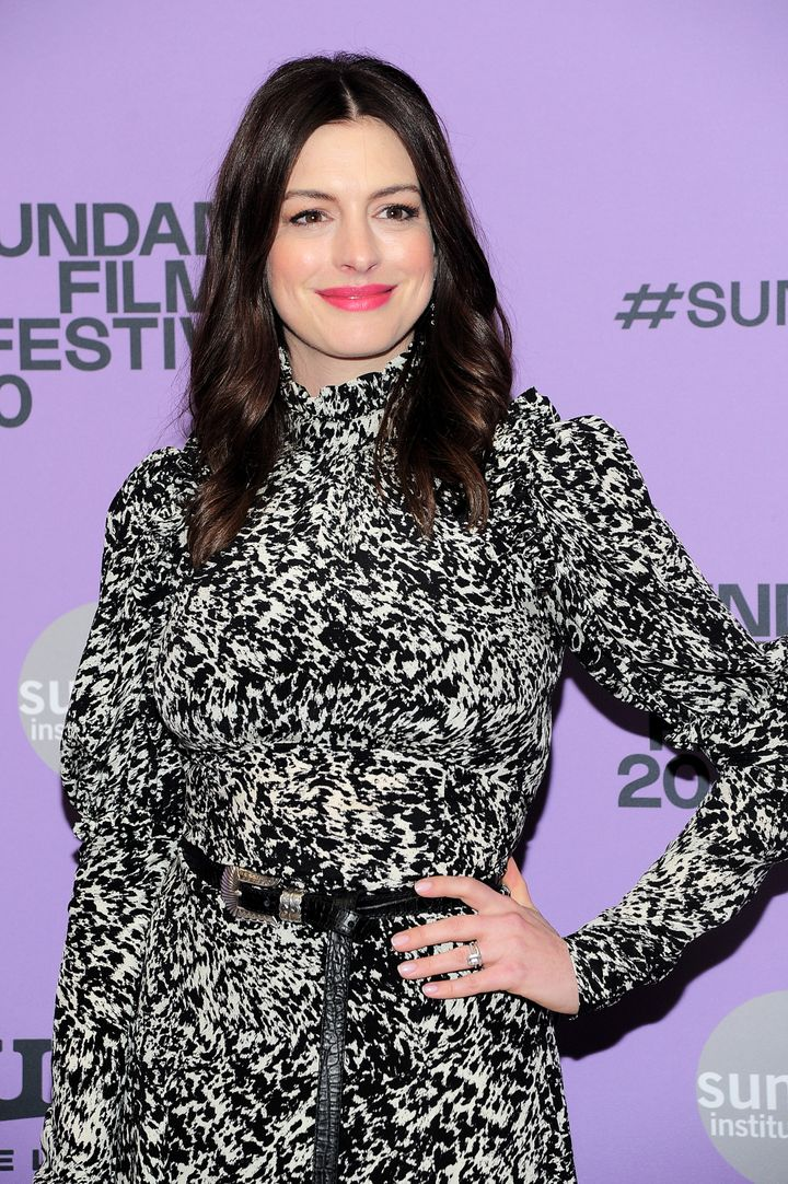Anne Hathaway attends the Netflix The Last Thing He Wanted Premiere at Eccles Center Theatre on January 27, 2020 in Park City, Utah.
