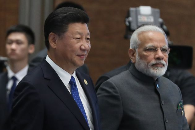 File photo of Chinese President Xi Jinping and Prime Minister Narendra