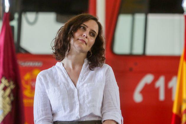 Isabel Díaz Ayuso, fotografiada el 26 de junio de 2020 en San Martín de Valdeiglesias,...