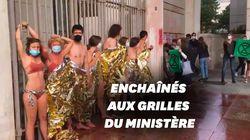 Action choc d'Extinction Rebellion devant le ministère de l'Économie à