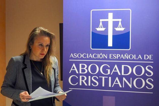 La presidenta de Abogados Cristianos, la letrada Apolonia Castellanos, en una imagen de