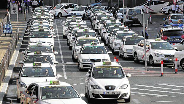 Taxis protestan en