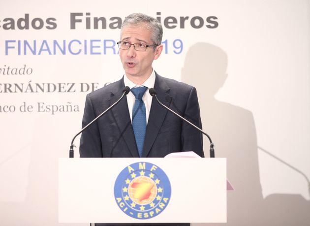 El gobernador del Banco de España, Pablo Hernández de