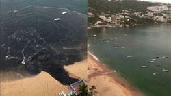 Vierten aguas residuales en la Bahía de Acapulco, en