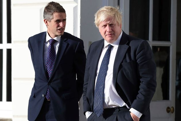Boris Johnson with education secretary Gavin