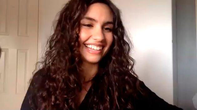 Alessia Cara is seen here in a screengrab while appearing virtually on