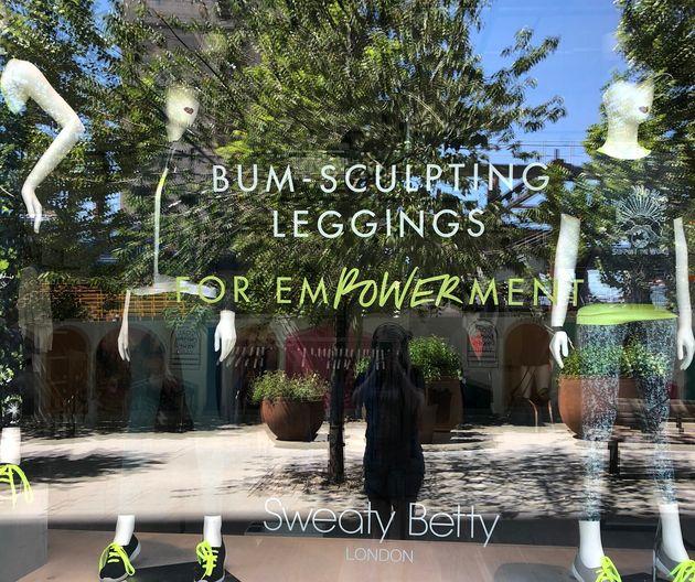 Sweaty Bettys Bum-Sculpting Leggings For Empowerment Display Raises Eyebrows