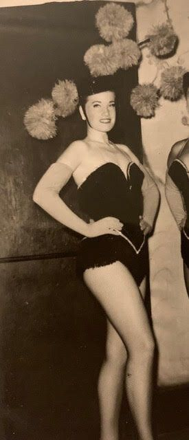The author's mom, Reta, during her dancing days.