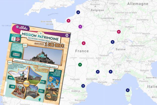 18 sites seront rénovés par l'édition 2020 du jeu de Stéphane Bern et de la Française des Jeux