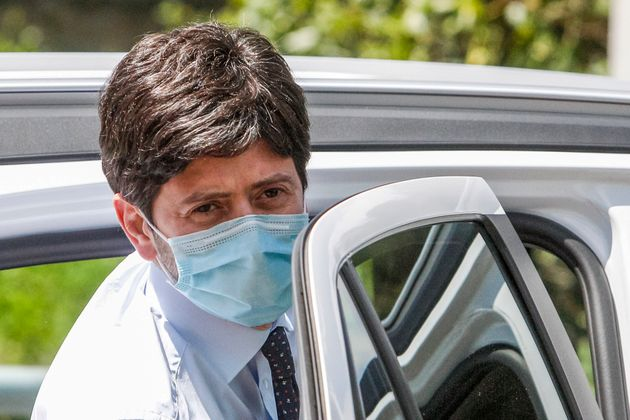 Italy's Health Minister Roberto Speranza leaves after attending a thanksgiving ceremony dedicated to physicians and nurses of the Italian Civil Protection in Rome, Monday, June 22, 2020. (AP Photo/Riccardo De Luca)
