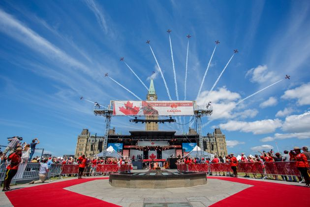 Canada Day ceremonies at Parliament Hill on July 1, 2019 in Ottawa,