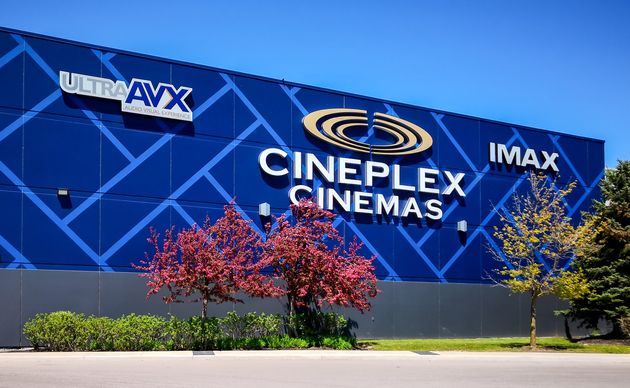 A Cineplex Cinemas movie theatre in Oakville, Ont. The movie chain is gearing up to reopen in July.