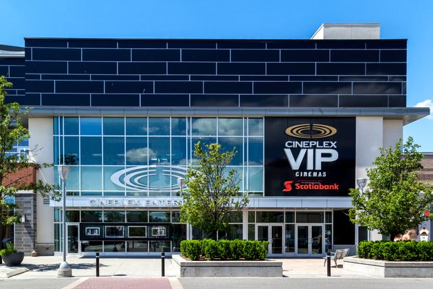 The entrance of Cineplex VIP Cinemas Don Mills in Toronto. The theatre chain is implementing physical...