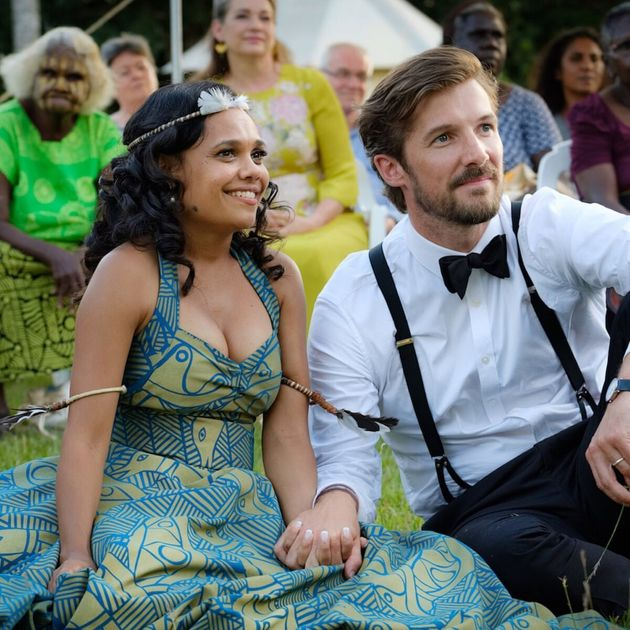 Miranda Tapsell and Gwilym Lee in 'Top End
