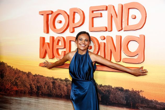 Miranda Tapsell attends the Melbourne Premiere of Top End Wedding at Rivoli Cinemas on April 7,...