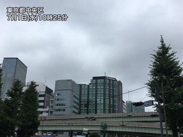1日(水)10時半頃 東京都中央区で撮影