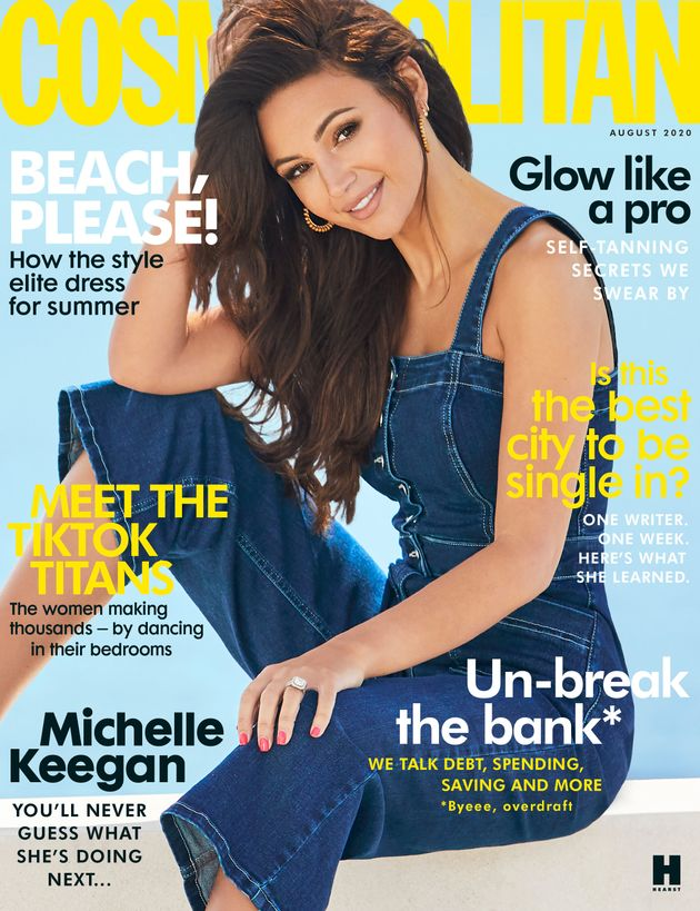 Michelle on the cover of Cosmopolitan