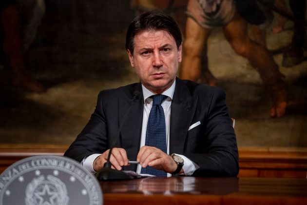 ROME, ITALY - JUNE 26: Italian Prime Minister Giuseppe Conte holds a press conference with the Education...