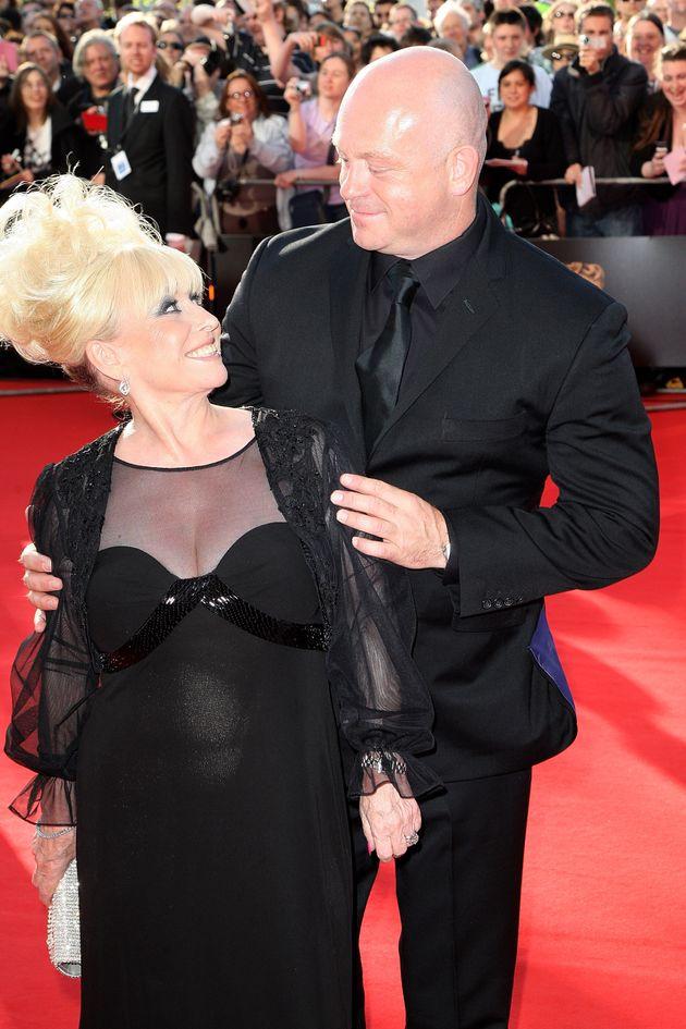 Ross Kemp and Barbara Windsor at the TV Baftas in