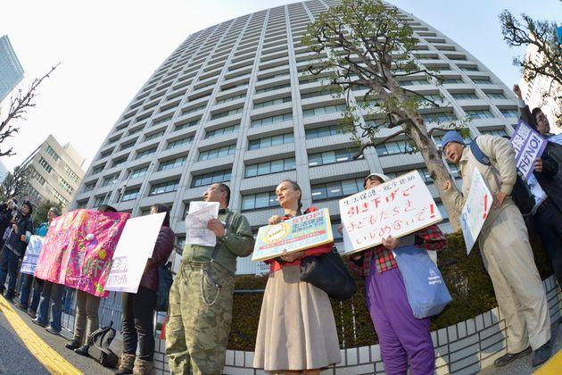 生活保護基準引き下げ反対のデモ(撮影日:2013年03月06日)