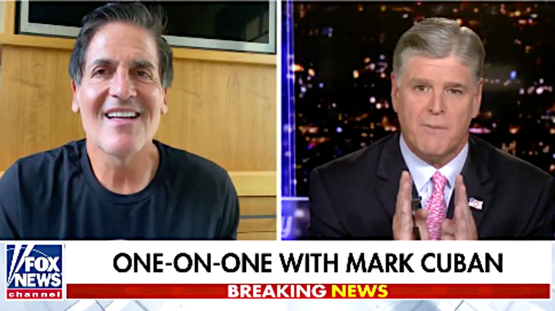 Mark Cuban Mocks Sean Hannity To His Face For Asking Donald Trump Softball Questions