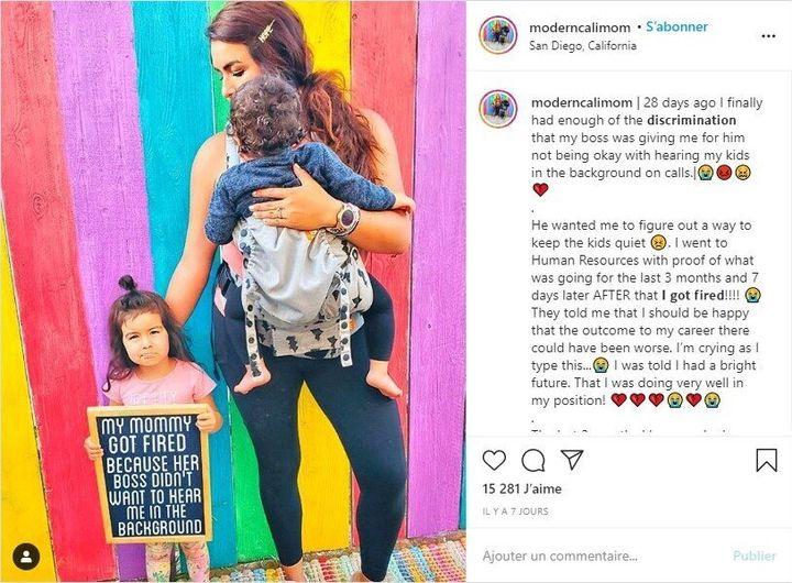 Le 2 juin, Dris Wallace, maman de deux jeunes enfants, s'est fait renvoyer car ses employeurs ne supportaient pas qu'elle doive s'occuper d'eux tout en télétravaillant.