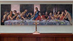 Πίνακας με μαύρο Ιησού θα εγκατασταθεί σε έναν από τους παλαιότερους ναούς της