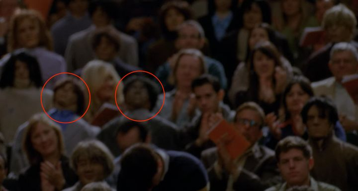 """Nothing to see here, just a couple of totally normal audience members on """"Glee."""""""