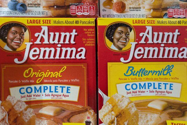 Productos de Aunt Jemima, en un supermercado