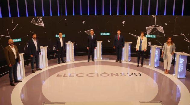 Los candidatos a las gallegas en el debate de
