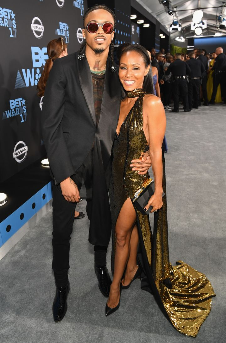 August Alsina and Jada Pinkett Smith at the 2017 BET Awards.