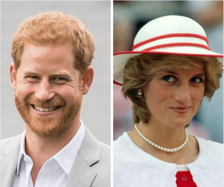 Prince Harry Princess Diana split