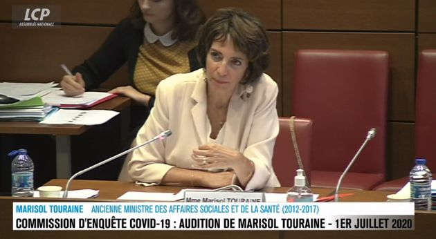 Marisol Touraine était interrogée par la commission d'enquête sur le Covid-19 à...