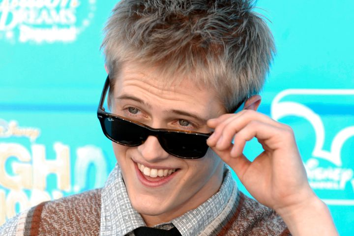"Lucas Grabeel, who played Ryan Evans, at the premiere of Disney's ""High School Musical 2"" in 2007."