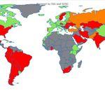 Gris, vert, orange ou rouge? La carte du coronavirus pays par pays qui évolue au jour le
