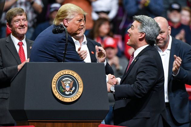Sen. Cory Gardner (R-Colo.) joined President Donald Trump on stage during a Keep America Great rally...