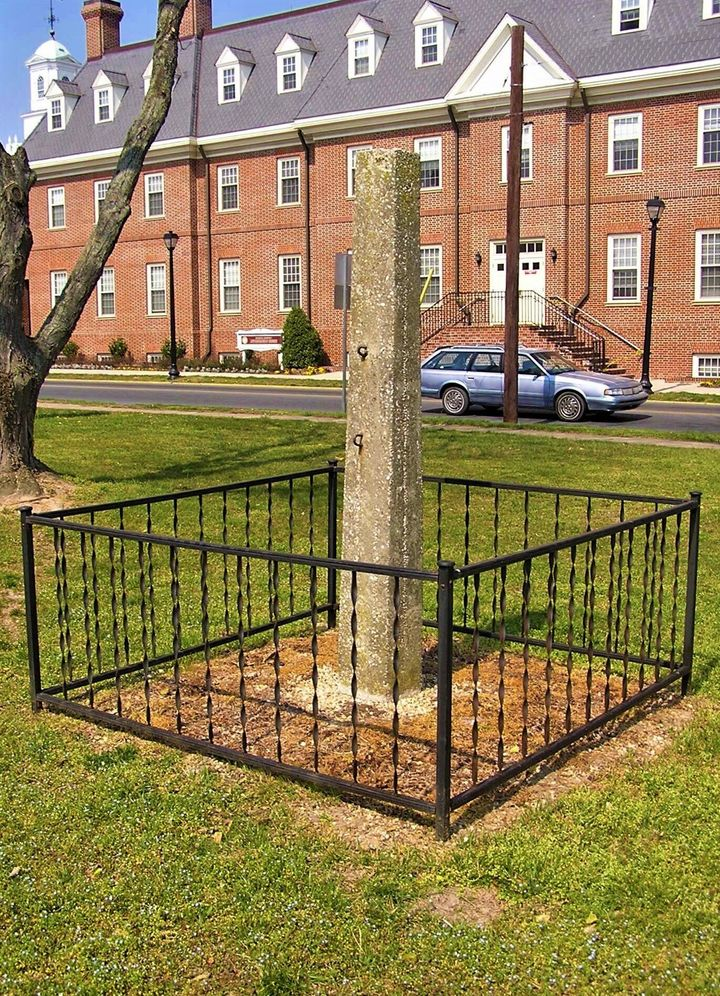 The whipping post had remained outside the Old Sussex County Courthouse in Georgetown, Delaware.