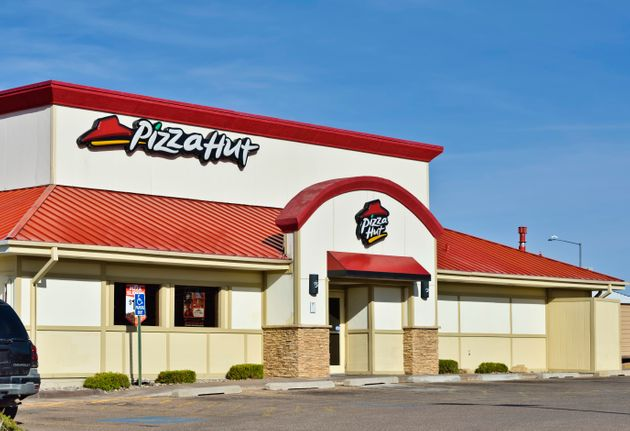 Santa Fe, New Mexico, USA - March 18, 2013: A Pizza Hut location in Santa Fe. Pizza Hut is an international...