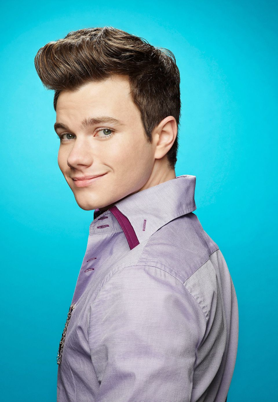 Chris Colfer played out and proud Kurt in