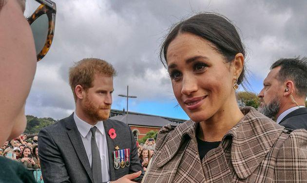 Le Duc et la Duchesse de Sussex, Harry et Meghan Markle. Wellington, Nouvelle-Zélande, 28 Octobre