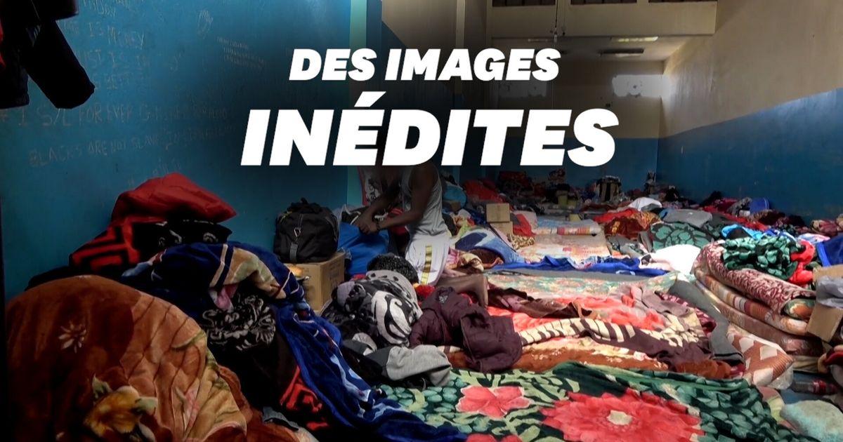 En Libye, les images terribles d'un camp de détention de migrants encore jamais filmé