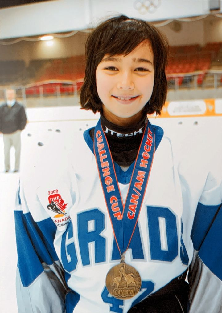 After winning gold at the 2008 CAN/AM Challenge Cup in Lake Placid, NY.