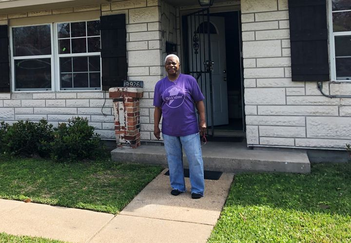 Doris Brown and her eight siblings all grew up in this house in northeast Houston. After Hurricane Harvey's floodwaters, mold destroyed walls inside.